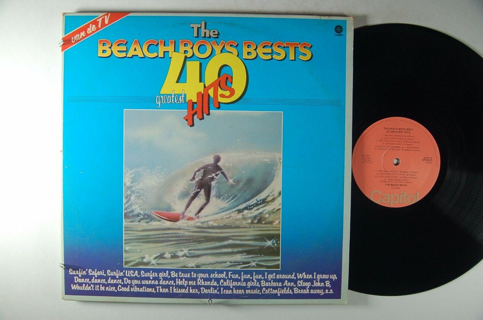 BEACH BOYS Best 40 Greatest Hits IMPORT 2xLP Dutch CAPITOL LPTV-2