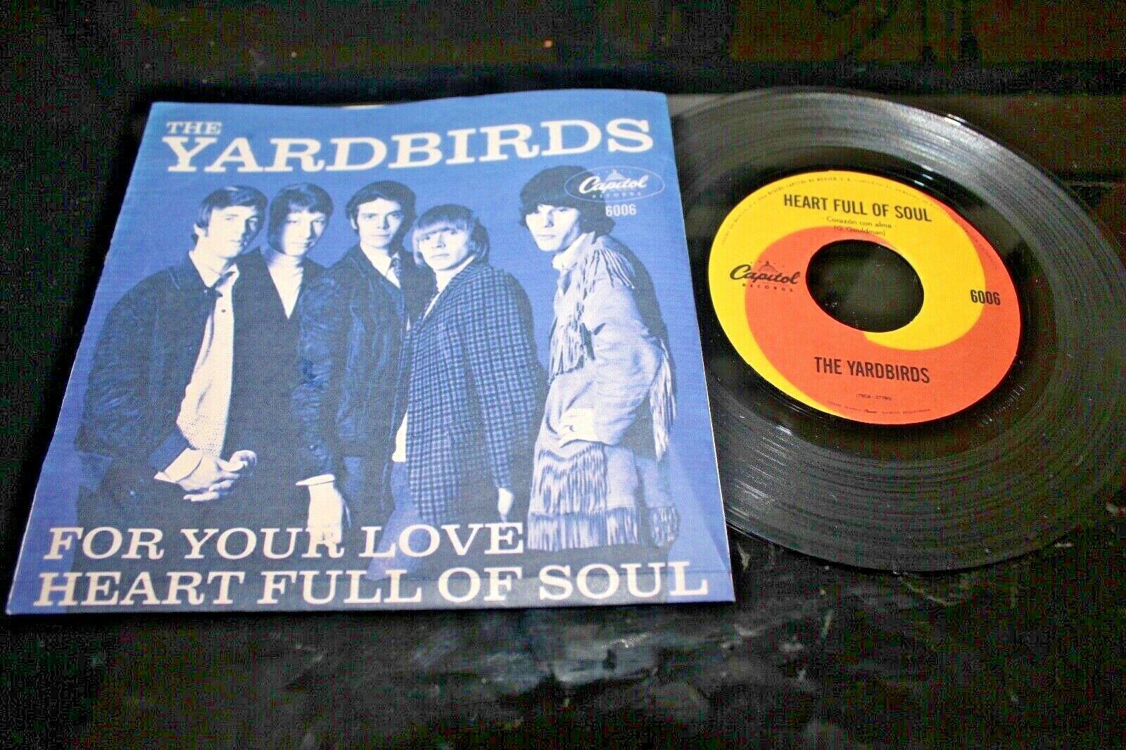 "THE YARDBIRDS For Your Love/ Heart Full Of Soul 1966 MEXICO 7"" 45 Led Zeppelin"