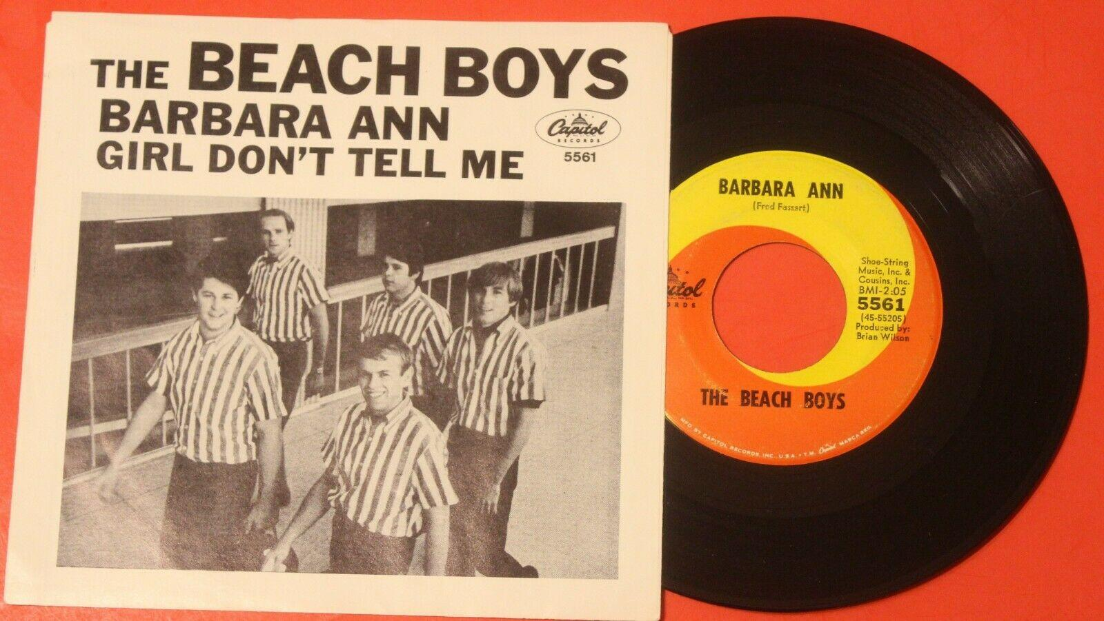 "THE BEACH BOYS ""Barbara Ann"" 1966 High Grade ROCKER with PICTURE SLEEVE - VG++"