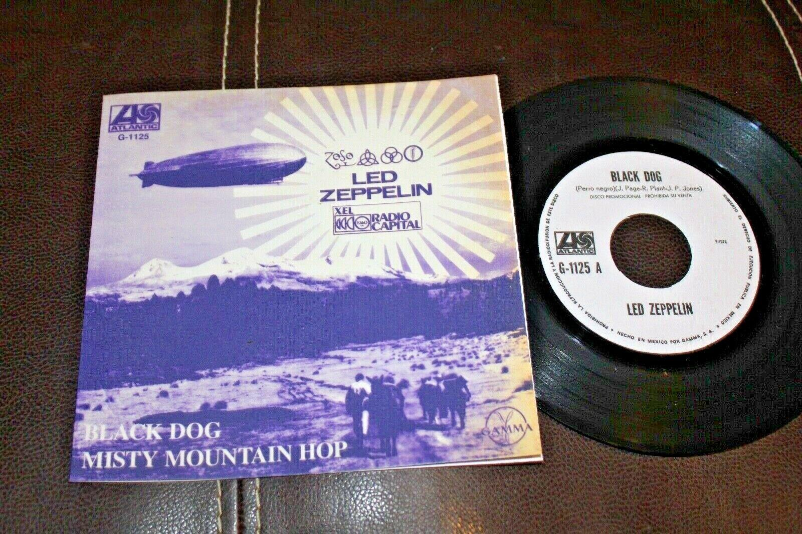 "LED ZEPPELIN Black Dog 1972 MEXICO RADIO PROMO 7"" 45 Psych"