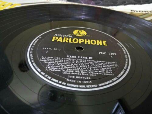 THE BEATLES-PLEASE PLEASE ME-INDIA lp-PMC1202,1N1N-Mono Parlophone 1st press