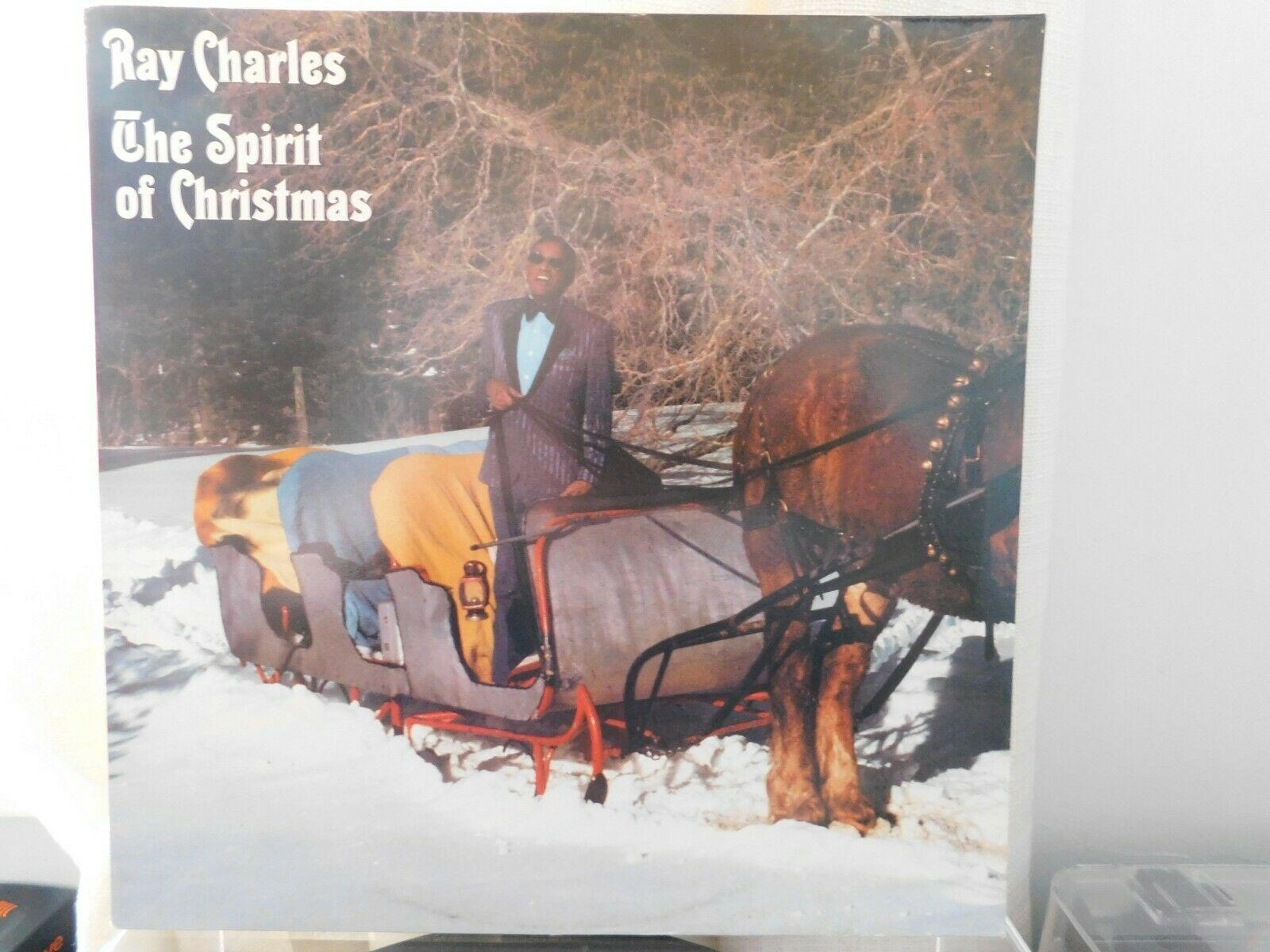 RAY CHARLES, THE SPIRIT OF CHRISTMAS. ORIGINAL VINYL LP, DEMO COPY, EXCELLENT
