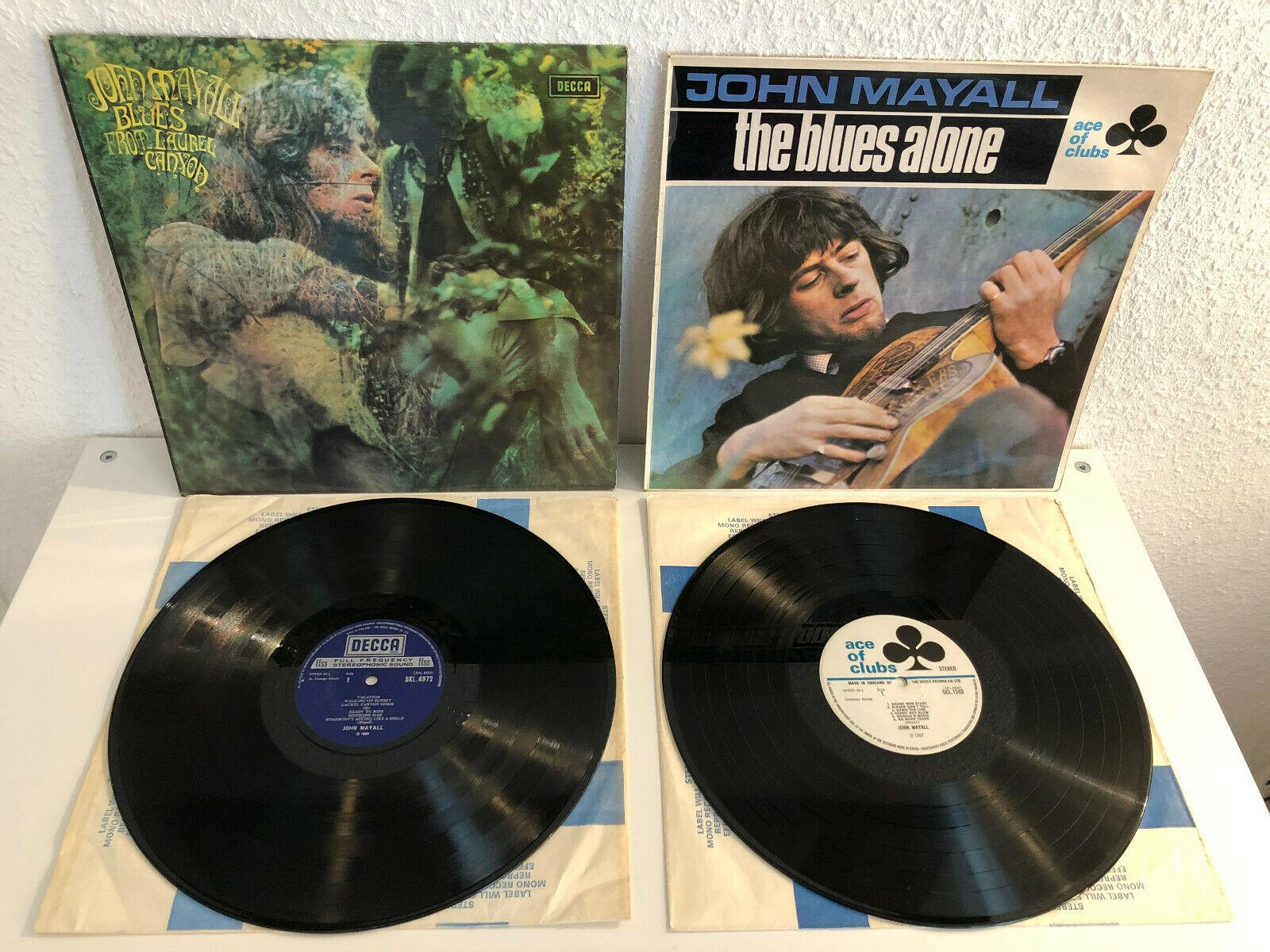 John Mayall Blues From Laurel Canyon The Blues Alone 2 LP's in mint