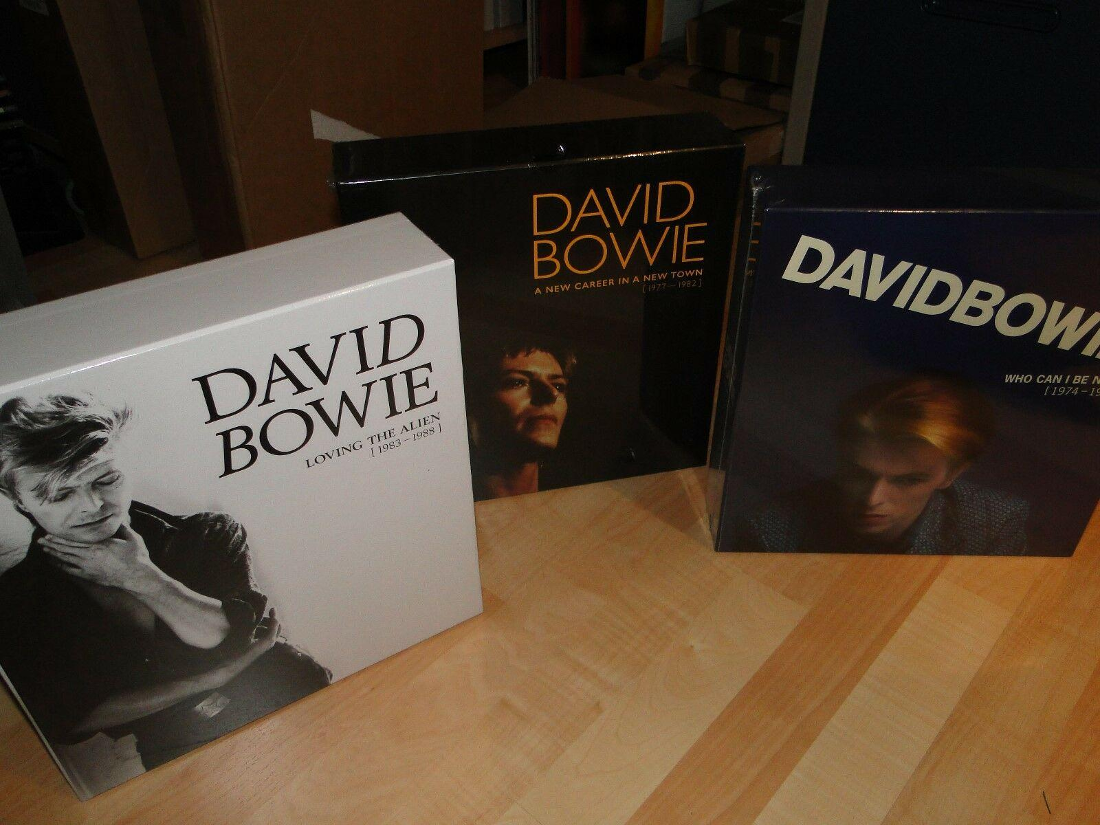 DAVID BOWIE 3xVinyl LP Box NEW CAREER ..WHO CAN I BE NOW + LOVING THE ALIEN