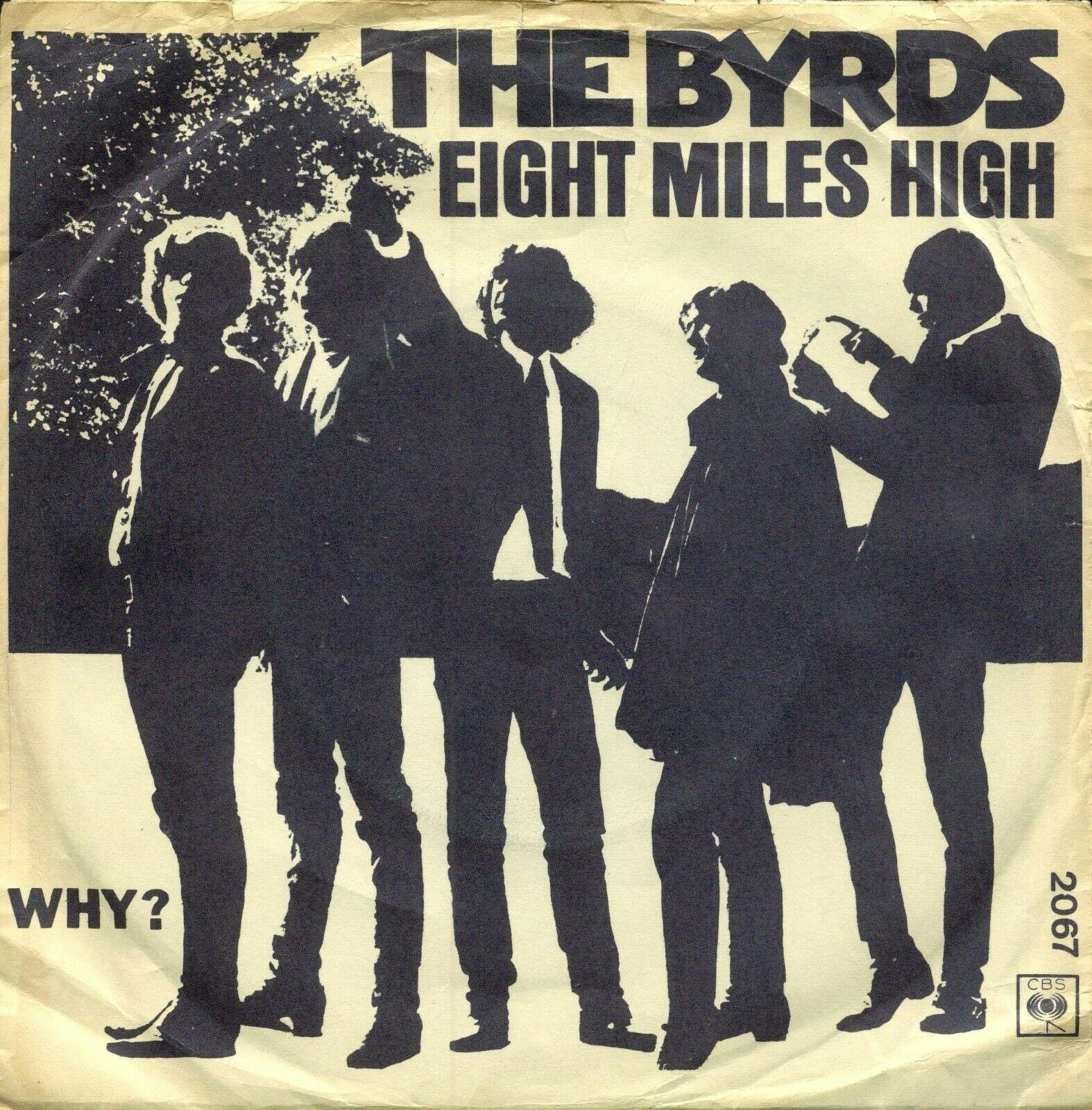 "THE BYRDS - Eight miles high - PS 7""/ 45 RARE DENMARK 1966 - VG+"