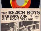 BEACH BOYS ORIG -NOT REPRO- PICTURE SLEEVE 45 Barbara Ann 1965 US CAPITOL